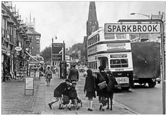 Stratford Road Birmingham (B9/35) (geoff7918) Tags: birmingham roadsigns yardleywood 1689 sparkbrook stagatha stratfordroad 21091964 stoneylane walfordroad batashoes leylandpd2 soapboxcart kunzlecakes