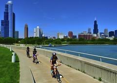 Bike Ride. Lake Shore Drive-Chicago (rudy rodriguez jr) Tags: summer chicago lakeshoredrive summertime bikeride