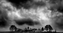 The House of the rising Sky (Swiss.piton (B H & S C)) Tags: sky blackandwhite cloud noiretblanc swiss ostschweiz toggenburg zd schwarzundweiss zuikolenses microfourthird swissamateurphotographers schweizerphotographen zd75mm18 olympusomdem5miizuikom75mmf18