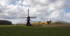 Hollands landschap (Tim Boric) Tags: windmill train landscape ns zug bahn railways molen trein intercity landschap spoorwegen lisse dubbeldekker virm lageveensemolen hogeveensemolen