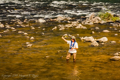 Fisherman in the Colorado River Gives a Thumbs Up as We Pass by on Amtrak's California Zephyr (ppoggio2) Tags: usa colorado trains transportation coloradoriver northamerica locations amtrakcaliforniazephyr 2015100103martinezcachicagoil