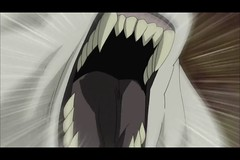 Three-Headed Wolf Mouth (Akamaru) 1 (qwertyuiop767) Tags: maw mouth teeth tongue mawshot fangs canine dog akamaru naruto anime open three headed wolf