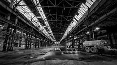Westwerk 2016 (Zesk MF) Tags: old bw white black dark hall nikon decay exploring db fabric forgotten 8mm bahn halle hdr trier deutsche urbex zesk