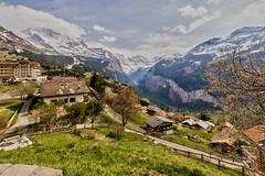 Wengen et foss de Lauterbrunnen [Explore n246 du 25/05/2016] (Vins 64) Tags: mountain snow landscape switzerland suisse swiss explore neige paysage lauterbrunnen wengen foss