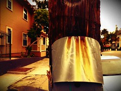 Rust never sleeps even in Banker's Hill (Dom Guillochon) Tags: street wood old houses urban electric metal vintage rust pole housing bankershill