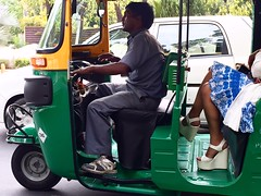 Dream Girl (Mayank Austen Soofi) Tags: auto woman girl sandals delhi dream commuter driver heel passenger walla