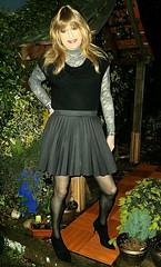 Garden Photos (Amber :-)) Tags: skirt crossdressing tgirl charcoal short transvestite sunray