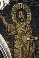 I Come to Fulfill the Law (Lawrence OP) Tags: rome detail mosaic law scroll apse santaprassede