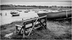 Alnmouth . (wayman2011) Tags: uk boats mono coast sailing estuary northumberland alnmouth rivers canon5d lightroom riveraln bwlandscapes wayman2011