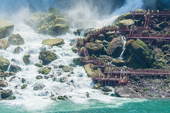 Up Close with American Falls (TylerIngram) Tags: people ontario niagarafalls tourists niagara waterfalls americanfalls