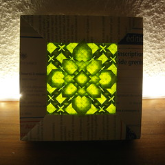 framed Fujimoto's tessellation (Dasssa) Tags: paper grid origami frame tessellation fujimoto dasssa