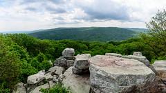 Chimney Rock Pano (MudflapDC) Tags: panorama outdoors us nationalpark md woods unitedstates nps walk maryland hike chimneyrock thurmont catoctinmountain