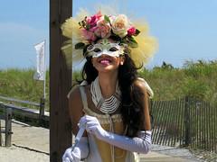 Smiling Boardwalk Woman (Multielvi) Tags: new city portrait woman girl smile costume nj atlantic shore jersey boardwalk