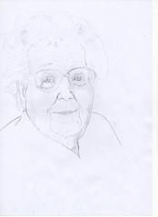 on est bien peu de choses (Sarmacande) Tags: crayon vieille croquis age