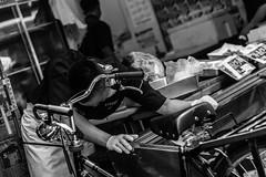 Taking a Break (Damon Li) Tags: street white fish black monochrome japan photography japanese tokyo market tsukiji