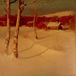 "<b>Winter Landscape</b><br/> Svend Svendsen (1864-1945) ""Winter Landscape"" Oil, n.d. LFAC #064<a href=""http://farm8.static.flickr.com/7039/6779984790_c74ecbbb1f_o.jpg"" title=""High res"">∝</a>"