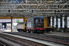 No12 Sarah Siddons and L26 at Lillie Bridge (LRO_1) Tags: londonunderground lu no12 sarahsiddons l26 lilliebridge lutransplantvehicles metropolitanelectricloco