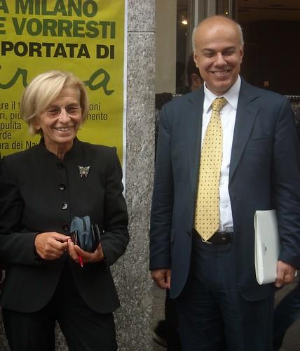 Edoardo Croci con Emma Bonino, settembre 2010