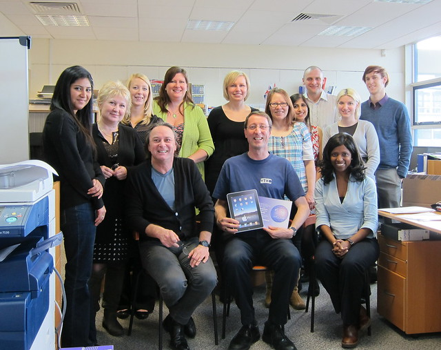 Me and the Cambridge team celebrating my 15 years at YTKO