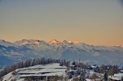 Nendaz - Switzerland (lucien_photography) Tags: sunset mountain snow sunrise schweiz switzerland nikon suisse dusk swiss clear crépuscule nendaz d7000 nikond7000