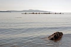 ON THE WATER  (4) (DESPITE STRAIGHT LINES) Tags: morning sea canada men beach water boats island nikon rocks kayak bc shoreline paddle canoe ripples kayaks islandviewbeach d700 ilobsterit