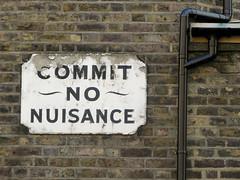Commit no nuisance (shaggy359) Tags: brick london sign wall writing warning word words no bricks pipe drainpipe southwark brickwork prohibition commit nuisance prohibit commitnonuisance greatguildfordstreet