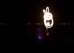 light-painting: rabbit (Gret B.) Tags: light lightpainting rabbit bunny night licht nacht hase kaninchen dunkelheit experimente versuche langebelichtung paintedwithlight lichtmalen