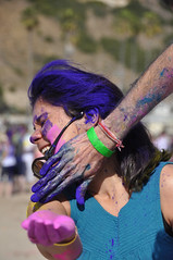 (The Inspired Traveler) Tags: california pink blue nepal pakistan red india color green beach colors yellow festival spring colorful purple indian saturday powder celebration bollywood annual hindu throw hindi pacificpalisades 2012 scented march10 willrog