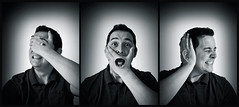 ...something about Evil (Ben Tite) Tags: portrait bw white black see three triptych no evil wise monkeys toned speak hear