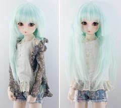 Chou (Cyristine) Tags: blue ball asian dami doll bjd msd jointed elfdoll leeke wimukt