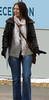 Leather Jacket & Gloves (LeatherCandid) Tags: street girls woman public girl leather lady fetish photography photo shot pants candid coat skirt jeans jacket gloves photograph faux latex glove trousers shorts unposed pleather