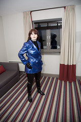 (traveller-28) Tags: woman sexy fetish fun hotel bury shiny boots vinyl gloves wife raincoat catsuit pvc lancs blog26march2013