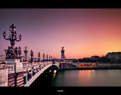 Alexander III (A-lain W-allior A-rtworks) Tags: bridge pink sunset paris water rose yellow jaune river soleil nikon eau long exposure sigma exposition invalides nd pont 20mm pause filters alain artworks fleuve couché alexander3 10mm longue filtres sigma1020 alexandre3 nd1000 d300s mygearandme mygearandmepremium dblringexcellence tplringexcellence wallior