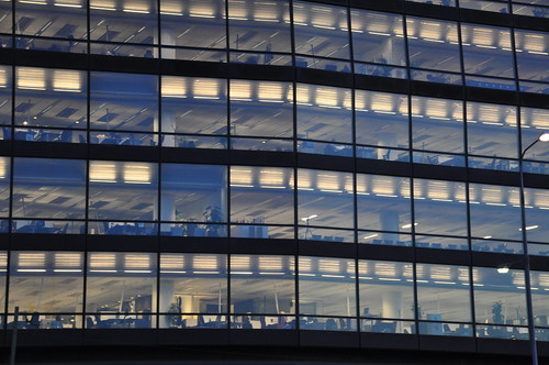 Office in dusk