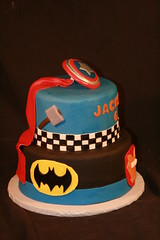 "Super hero cake • <a style=""font-size:0.8em;"" href=""http://www.flickr.com/photos/60584691@N02/6875380526/"" target=""_blank"">View on Flickr</a>"