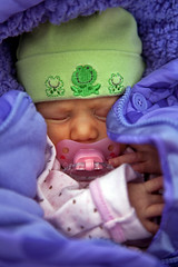 021412 - Siena napping in frog hat (Nathan A) Tags: baby twins infant babies fraternal