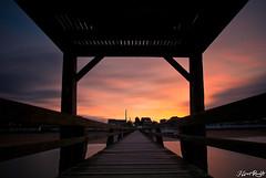 Colorful Sunset (NeoNature) Tags: sunset mer france nature architecture canon de lens soleil pier exposure angle wide coucher grand filter nd sur luc mm pause normandy calvados 1022 jetée filtre objectif longue lenght