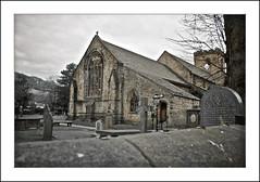 walls (AppleCrypt) Tags: windows building clock church glass cemetery graveyard canon 35
