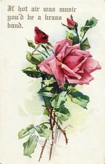 1911 - Brass Band (clotho98) Tags: rose illustration vintage virginia pc postcard hotair ephemera independence poole brassband sarcasm 1900s 1911 postalcard
