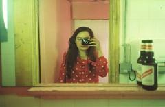 Red Polka Dot/Stripe (Adele M. Reed) Tags: film 35mm travels olympusmjuii picbod