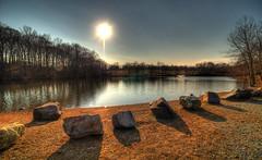 The Sun,  the Lake and some Rocks (EXPLORE Feb 19, 2012 #163) (phenix) Tags: landscape minolta sony ngc npc delaware hdr konicaminolta a700 carouselpark thegalaxy 1118mm enchantedlake