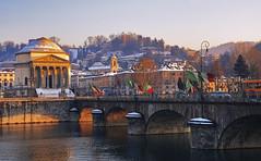 Torino (l) Tags: city travel bridge urban italy architecture canon river torino europe italia outdoor piemonte po granmadre