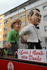 (Euro)-Bonds - No Thanks! (Travel Aficionado) Tags: carnival germany deutschland frankfurt parade bonds fasching umzug frankfurtammain karneval merkel fasnacht angelamerkel eurobond eurobonds