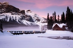 Sunset at Emerald Lake Lodge (Irena Portfolio) Tags: sunset lake mountains wintersunset emeraldlake winterscene fleursetpaysages