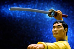 Edge Of Space (JD Hancock) Tags: blue startrek favorite fun toy actionfigure action bokeh cc edge figure sword scifi sulu 1k theotherside inkitchen macromondays jdhancock
