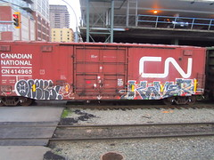 oreks kamer (..bloodsweatandyears..) Tags: west cn train bench graffiti coast bc cp freight bnsf rolling sry