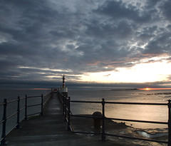 Amble Pier (Laura donothey) Tags: seascape sunrise photography northumberland amblepier