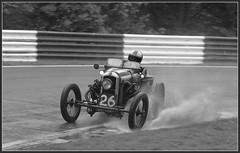 GN Cyclecar at Cadwell Park (Peter_R2013) Tags: bw wet rain vtwin vscc cadwellpark vintagemotorsport 43litre gncyclecar