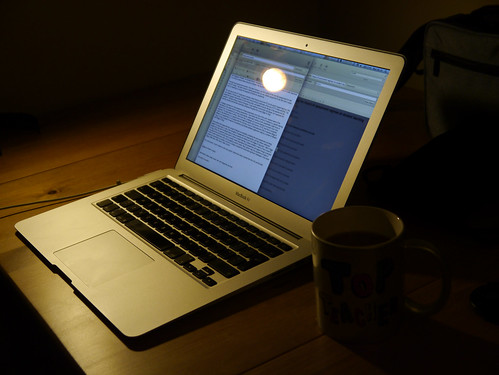 Early morning essay writing by Oliver Quinlan, on Flickr