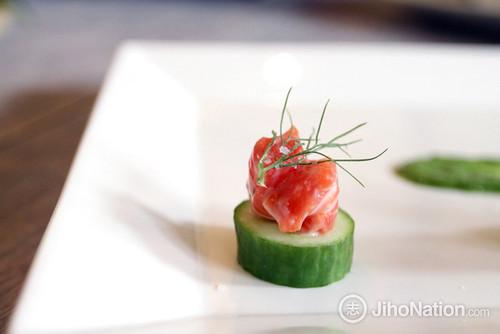 Salmon Rillette Cucumber Round - 13